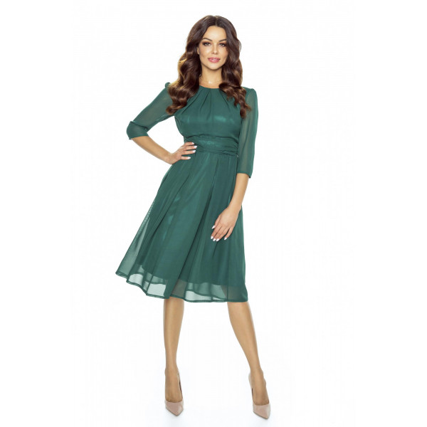 Koktajlowa sukienka z szyfonu km211-6