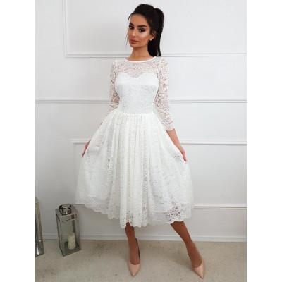 Carla- Koronkowa sukienka midi KM302-4