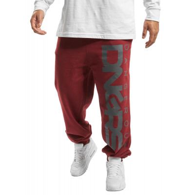 Dangerous DNGRS nohavice pánske Sweat Pant Classic in red