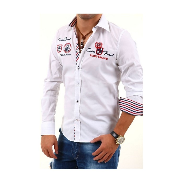 18c6ed3d23d9 CARISMA košeľa pánska 8004 dlhý rukáv slim fit