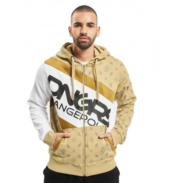 Dangerous DNGRS / Zip Hoodie Bear in beige