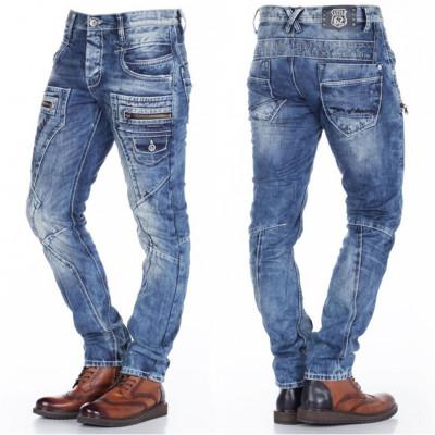 CIPO & BAXX nohavice pánske C-1178 regular fit L:32 jeans džínsy
