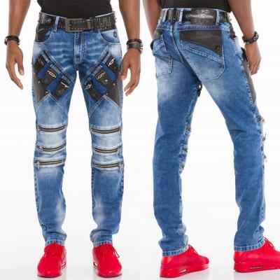 CIPO & BAXX nohavice pánske CD461 slim fit L:34 jeans džínsy
