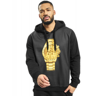 Dangerous DNGRS / Hoodie Goldwatch in black