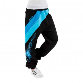 Dangerous DNGRS Skull Sweat Pants Black/Turquise