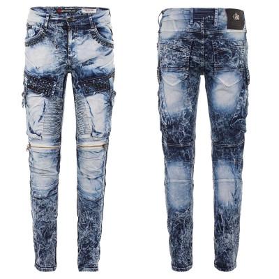 CIPO & BAXX nohavice pánske CD494 L:34 regular slim džínsy