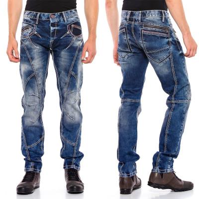 CIPO & BAXX nohavice pánske CD563 regular slim fit L:34 jeans džínsy