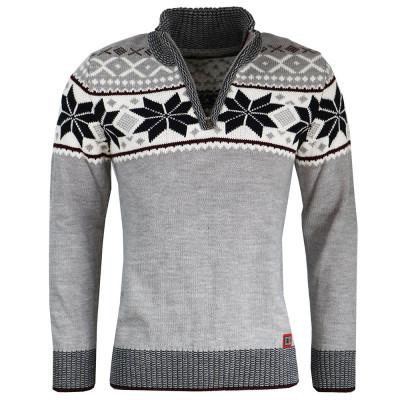 CIPO & BAXX sveter pánsky CP234 norský vzor