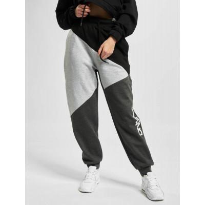 Dangerous DNGRS kalhoty dámské Piwot Sweatpants Anthracite Grey Melange Line