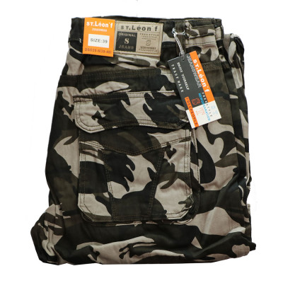 ST. LEONF nohavice pánske DS20-6 kapsáče nadmerna veľkosť maskáče