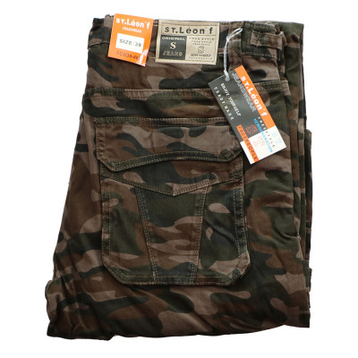 ST. LEONF nohavice pánske TC3 kapsáče nadmerna veľkosť maskáče