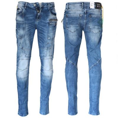CIPO & BAXX kalhoty pánské CD577 slim fit L:34 jeans džíny