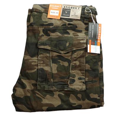 ST. LEONF nohavice pánske TC4 kapsáče nadmerna veľkosť maskáče
