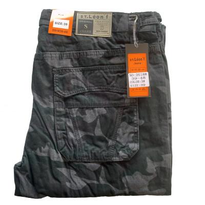 ST. LEONF nohavice pánske DS18 kapsáče nadmerna veľkosť maskáče