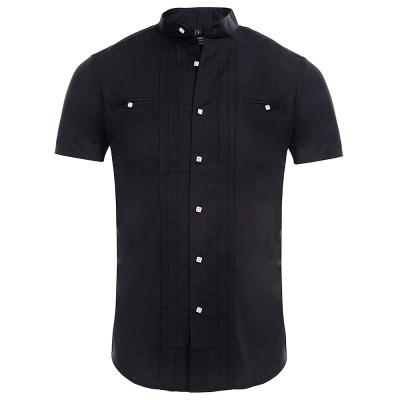 CARISMA košeľa pánska 9006 krátky rukáv slim fit čierna