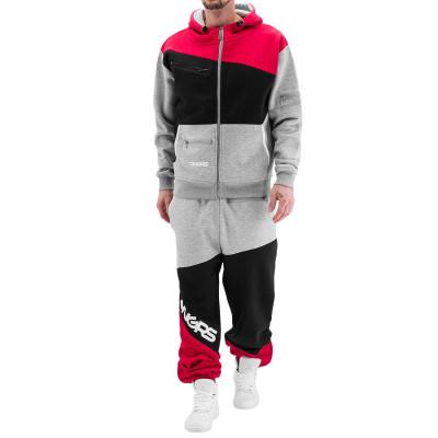 DANGEROUS DNGRS souprava pánska Suit Denim in grey hip hop