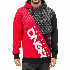 Dangerous DNGRS mikina pánska Logo Hoody Black Red