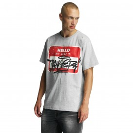 Dangerous DNGRS Hello T-Shirt Grey Melange