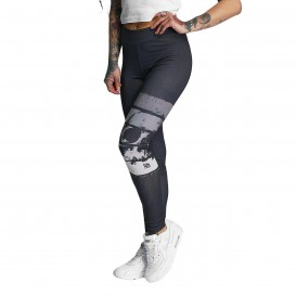 Dangerous DNGRS Skull Leggings Rising Black