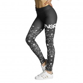 Dangerous DNGRS Skull Leggings Samurai Black