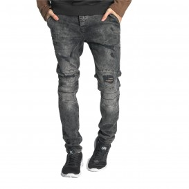 Just Rhyse Destroyed Slim Fit Jeans Grey