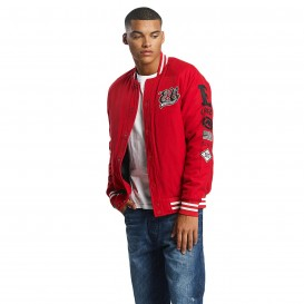 Ecko Unltd. bunda pánska College Jacket Big Logo in red