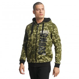 Dangerous DNGRS mikina pánska Zip Hoodie Unexpected in camouflage