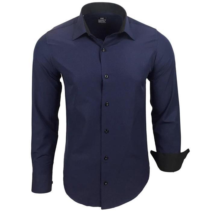6e239f1d3c60 RUSTY NEAL košeľa pánska R-44 dlhý rukáv slim fit - DG-SHOP.SK