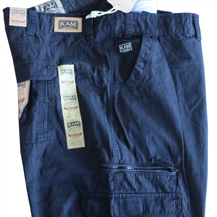 90611eb3dc47 KAM nohavice pánske KBS 118 kapsáče nadmerná veľkosť - DG-SHOP.SK