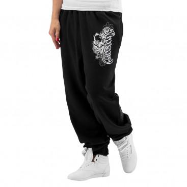 Dangerous DNGRS / Sweat Pant Flower in black
