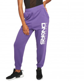Dangerous DNGRS / Sweat Pant Soft Dream Leila Ladys Logo in purple