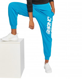 Dangerous DNGRS / Sweat Pant Soft Dream Leila Ladys Logo in turquoise