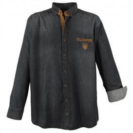 LAVECCHIA košeľa pánska 11282 nadmerná veľkosť jeans džínsová