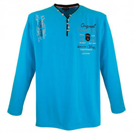 LAVECCHIA tričko pánske LV-704 dlhý rukáv nadmerná veľkosť