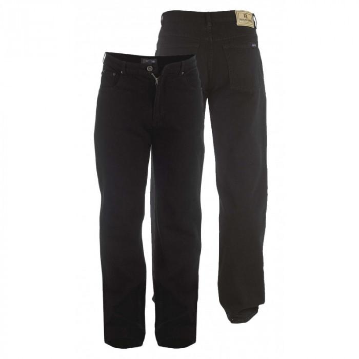 5f44fc3cbe03 ROCKFORD nohavice pánske RJ520 COMFORT BLACK Jeans nadmerná veľkosť ...