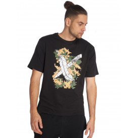 Dangerous DNGRS / T-Shirt Feathercross in black