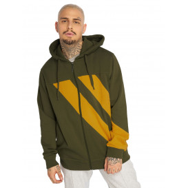 Dangerous DNGRS / Zip Hoodie Strip Zip in olive