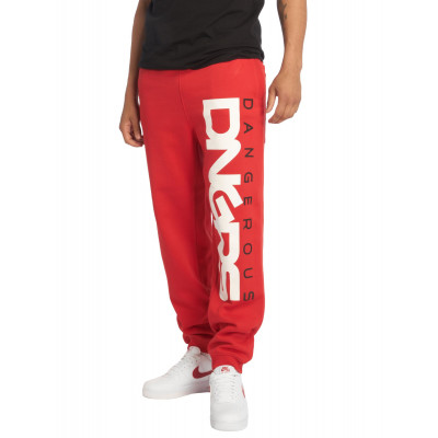 Dangerous DNGRS nohavice pánske Sweat Pant DNGRS Classic in red