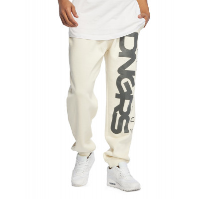 Dangerous DNGRS nohavice pánske Sweat Pant Classic in white