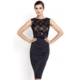 Šaty s krajkou 34 až 44 černé